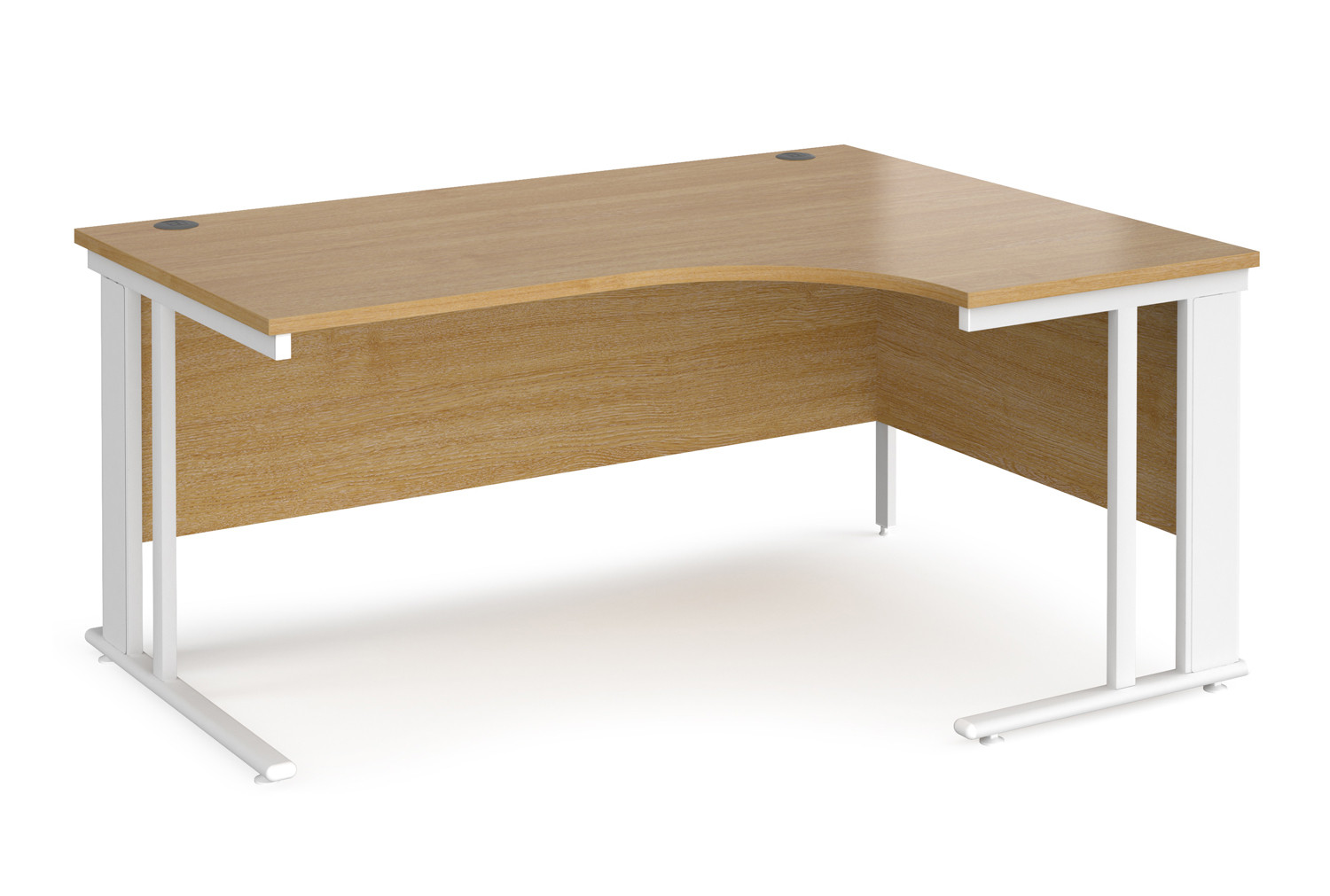 Value Line Deluxe Cable Managed Right Hand Ergo Desk (White Legs)