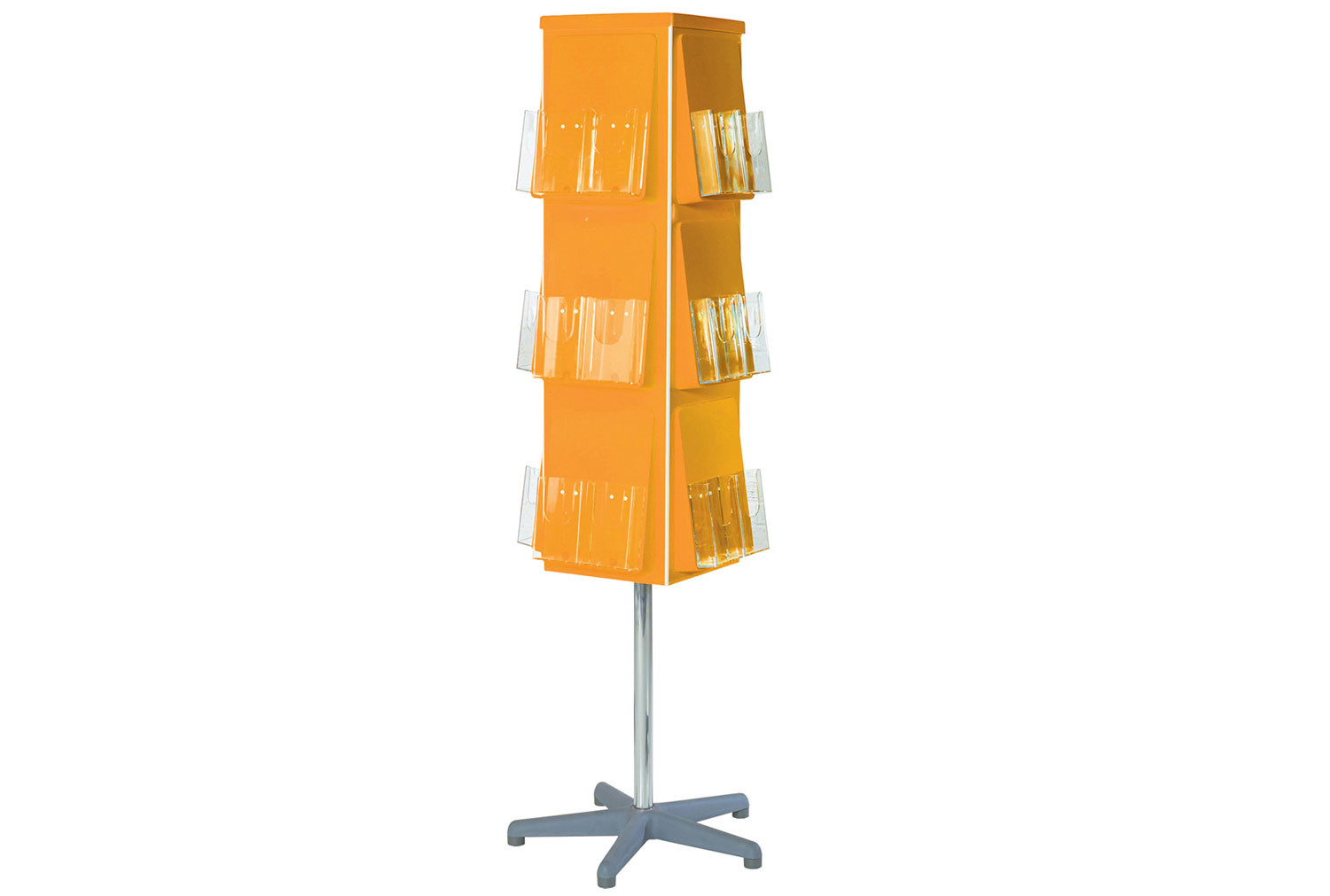 Vibrant 4 Sided Revolving Leaflet Dispenser