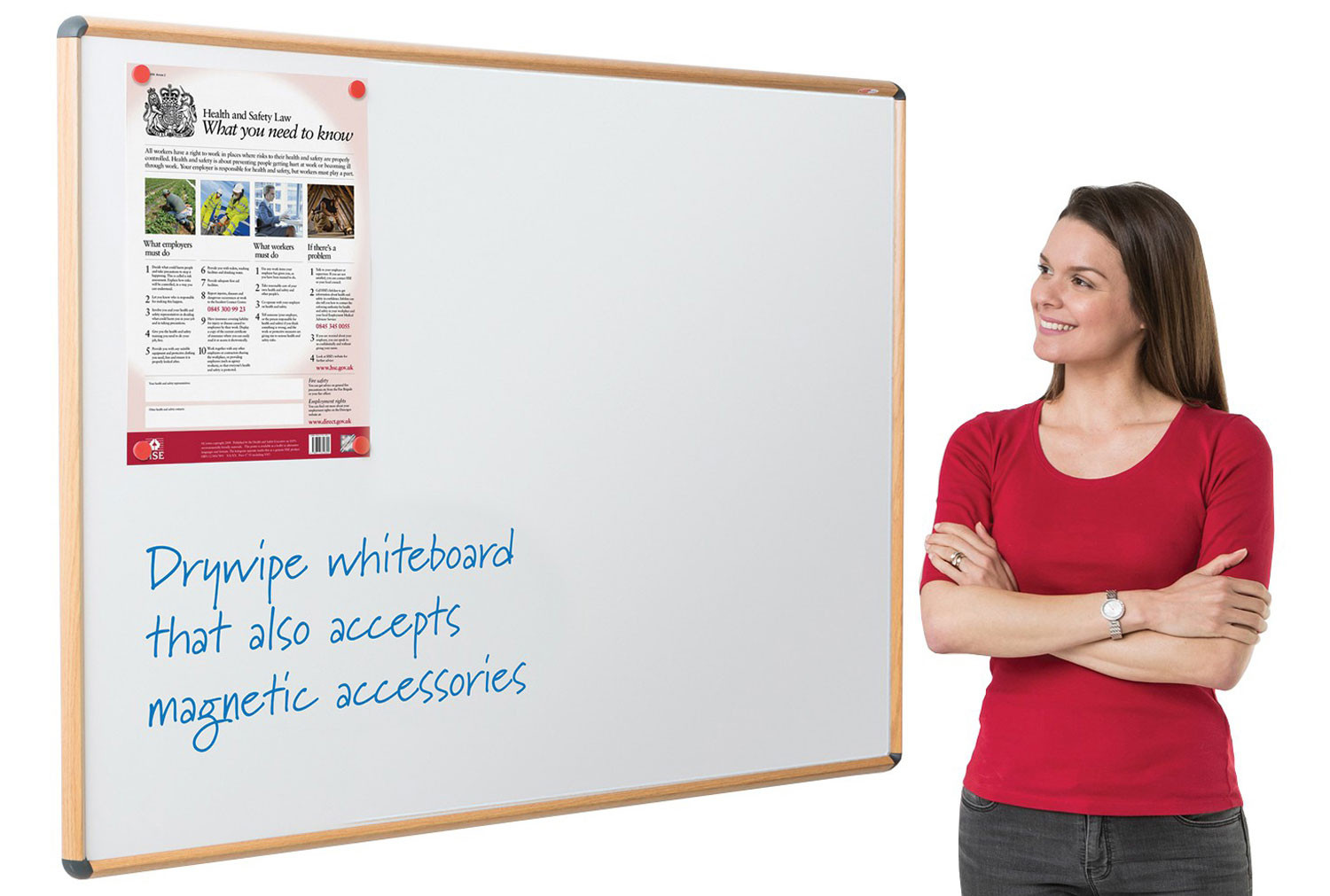 Shield Design Wood Effect Magnetic Whiteboards