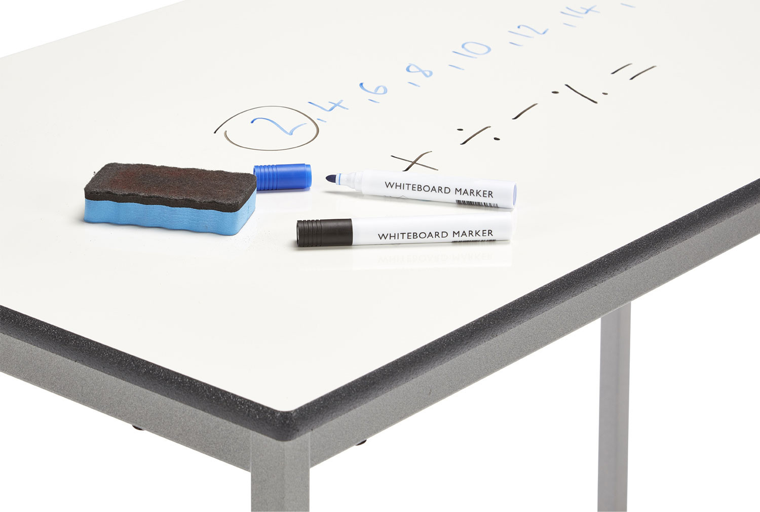Fully Welded Rectangular Table With Whiteboard Top 11-14 Years