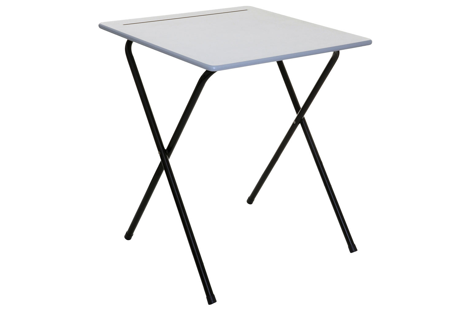 Pack of 2 Folding Exam Desks With Pencil Groove