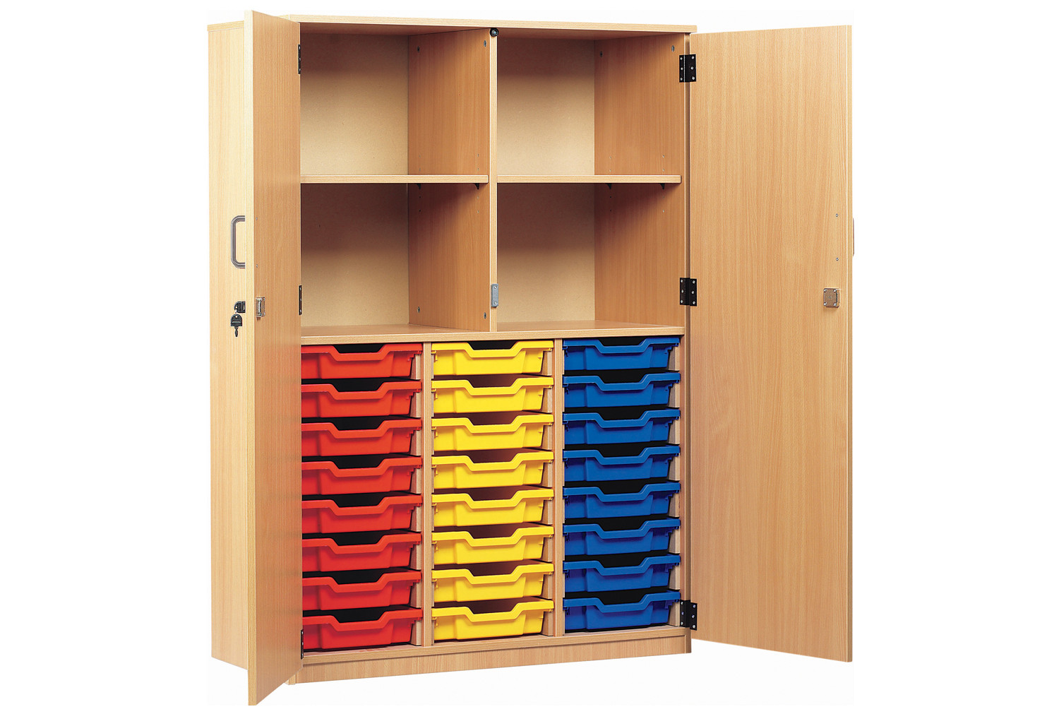 24 Tray Storage Cupboard With Full Doors