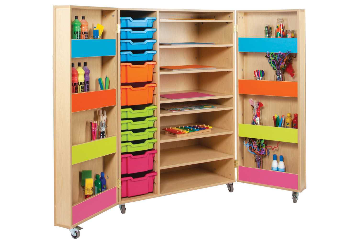 Bubblegum Art Storage Cupboard