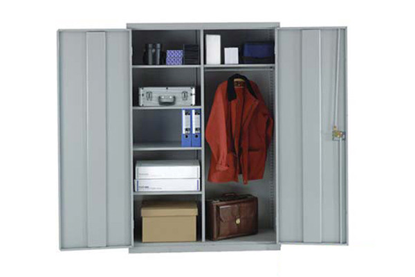 Heavy Duty Wide Utility Cupboard With Coatrail