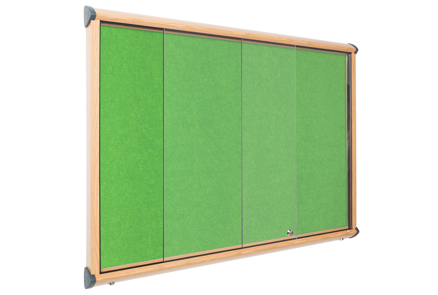 Shield Resist-A-Flame Wood Effect Showcase With Sliding Doors