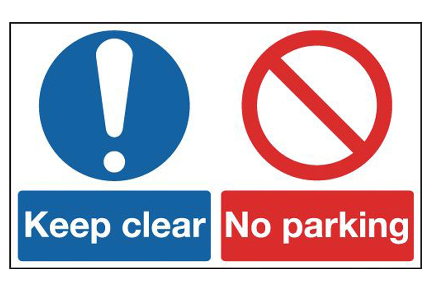 Keep Clear, No Parking Multi Message Sign