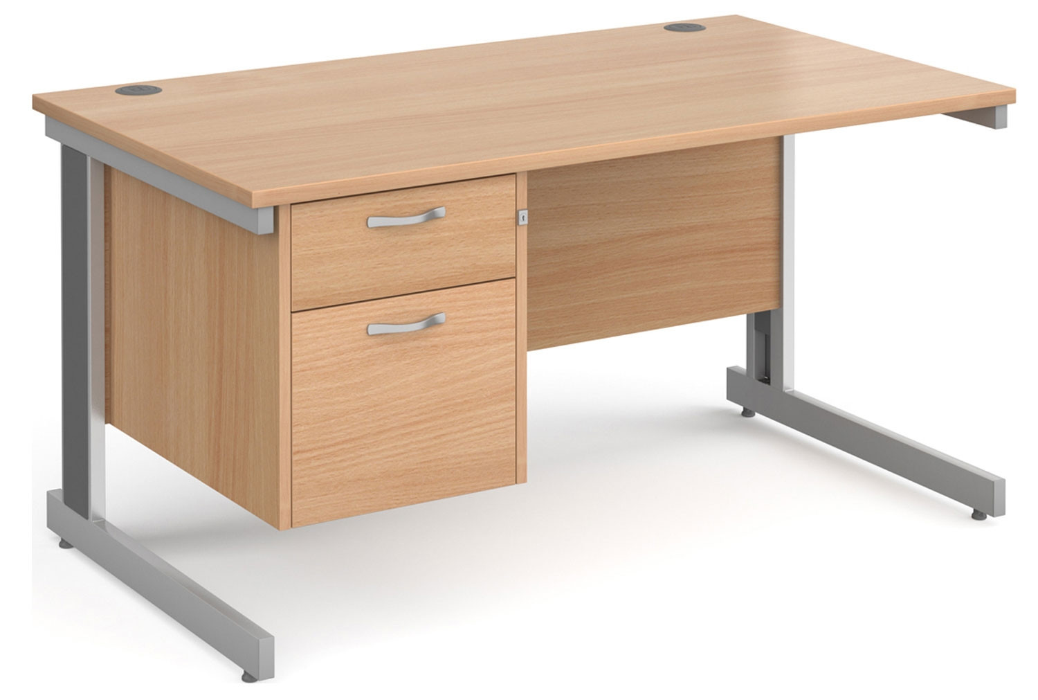 Tully Deluxe Rectangular Desk 2 Drawers