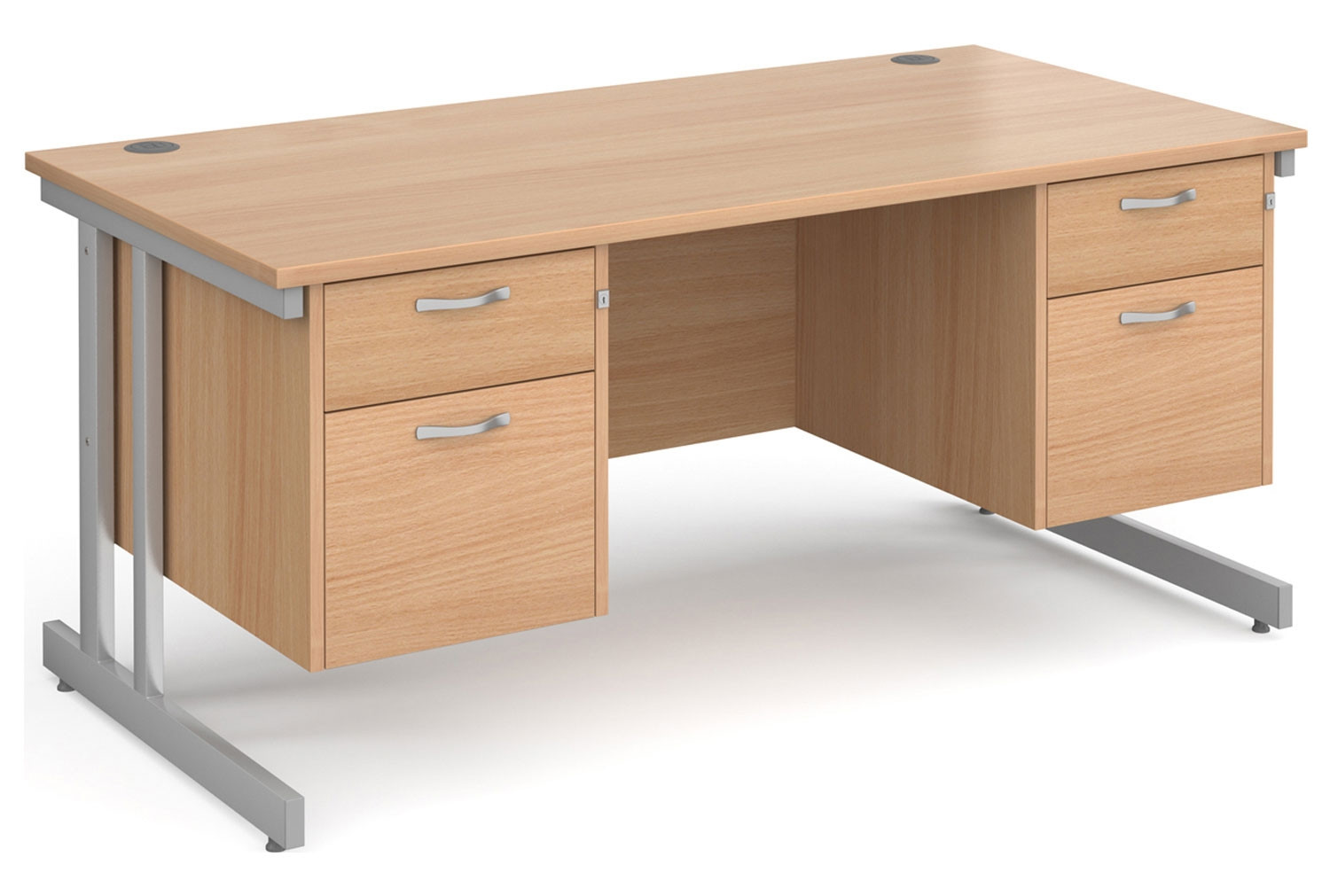Tully II Rectangular Desk 2+2 Drawers