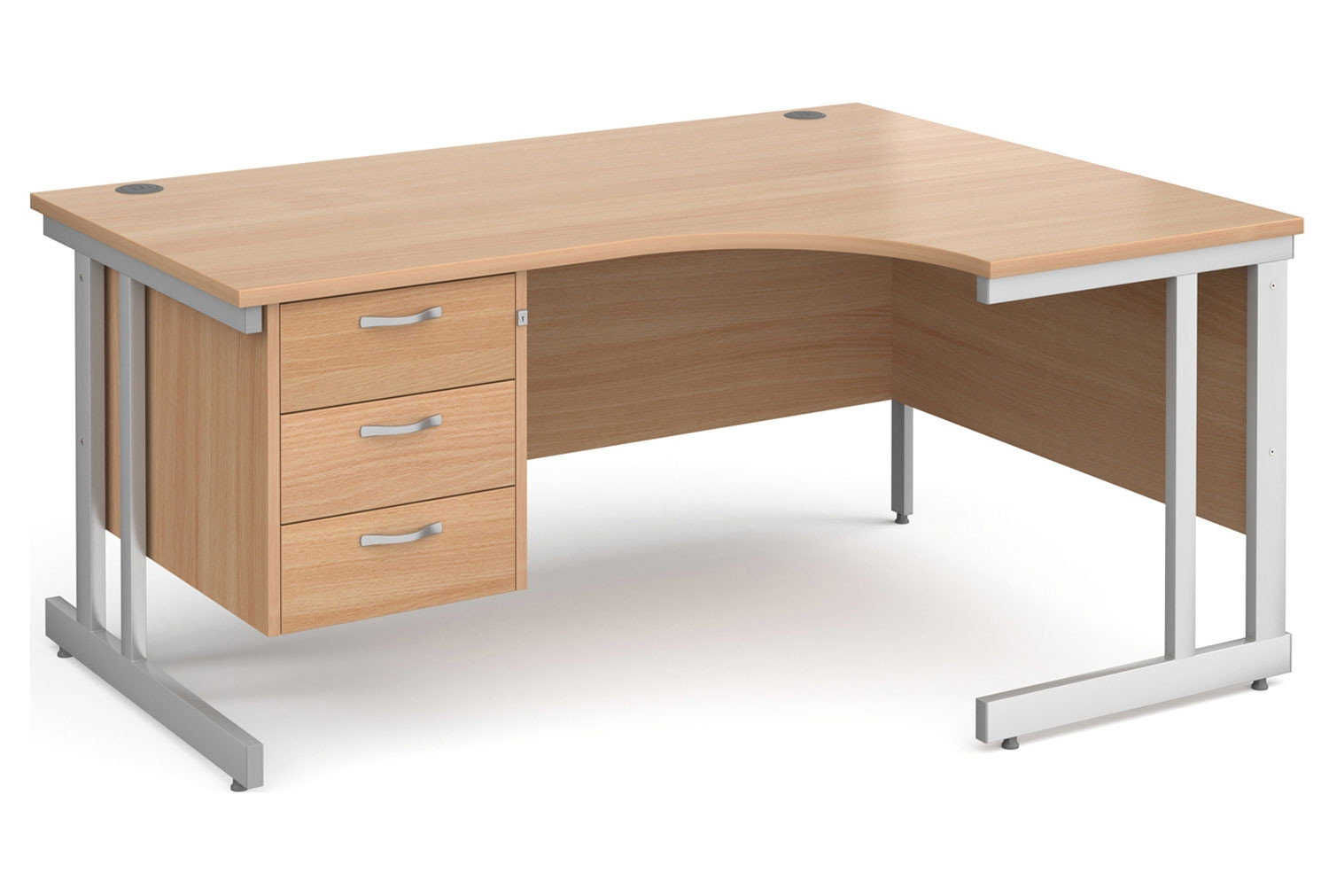 Tully II Right Hand Ergonomic Desk 3 Drawers