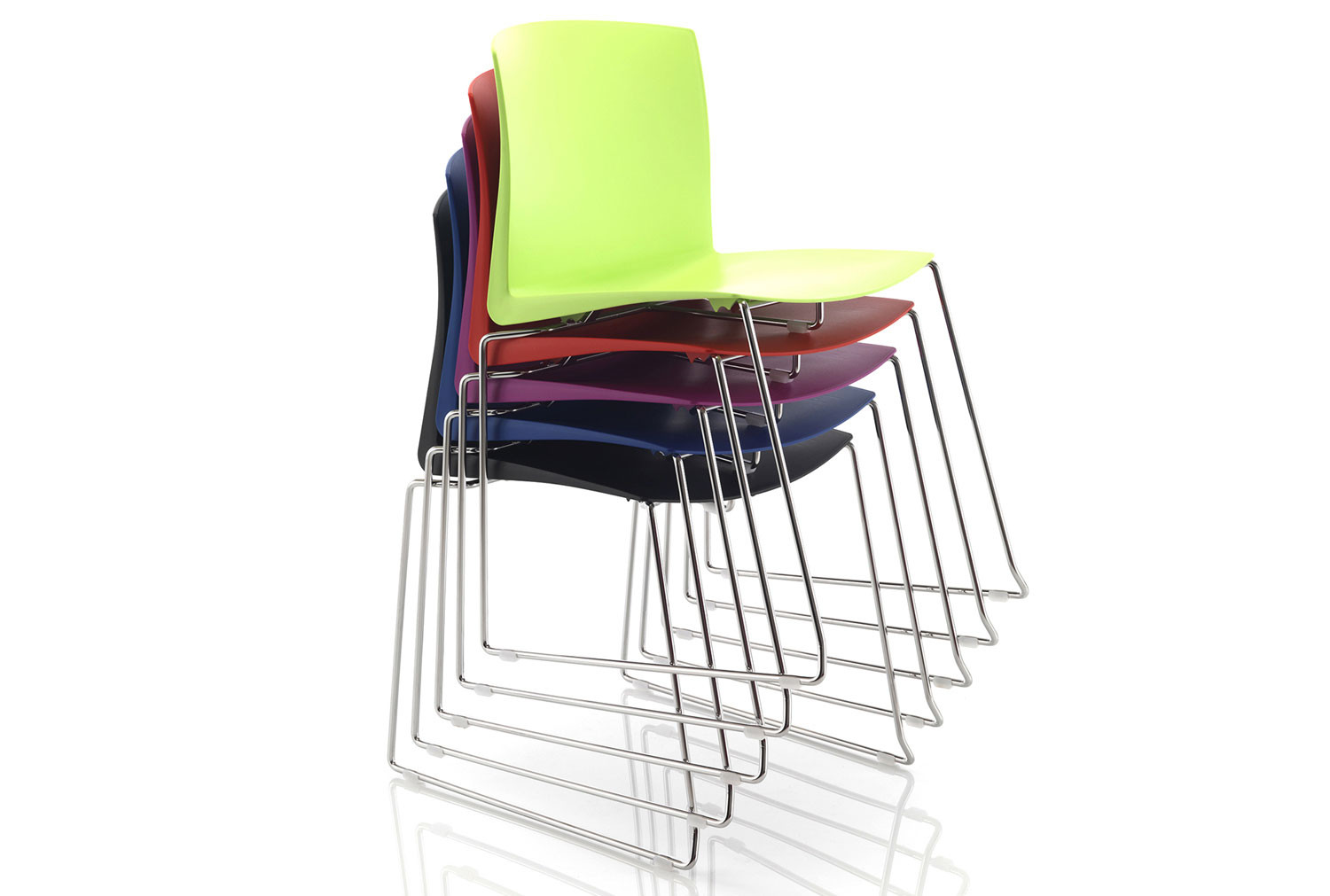 Pack Of 2 Tagus Poly Meeting Room Chairs With Sled Base