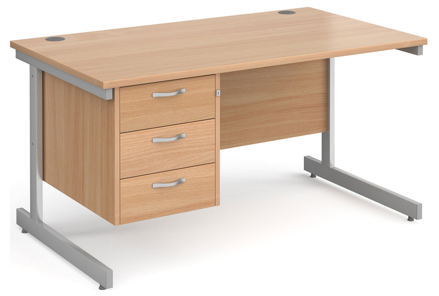 Next-Day Tully I Rectangular Desk 3 Drawers