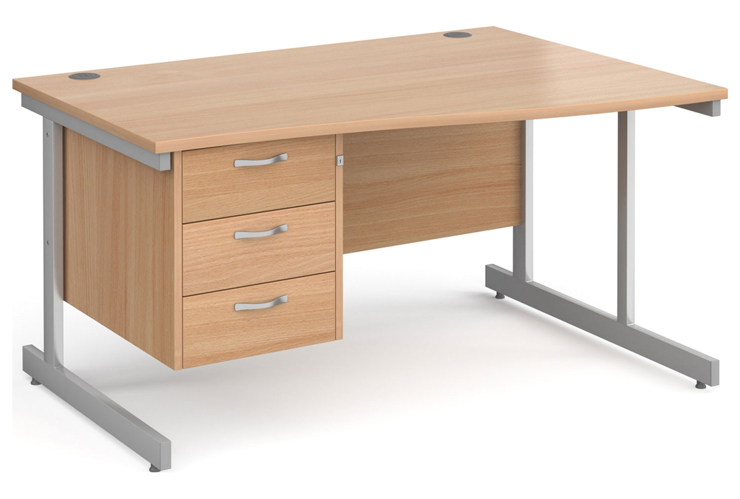 Tully I Right Hand Wave Desk 3 Drawers