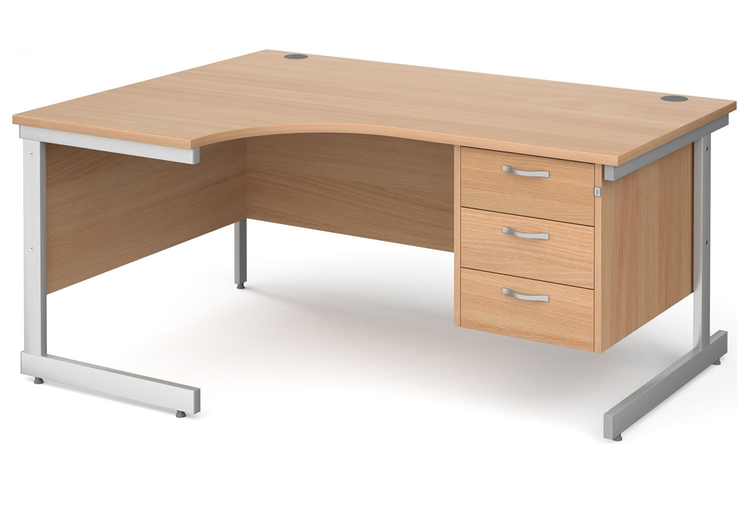 Next-Day Tully I Left Hand Ergonomic Desk 3 Drawers