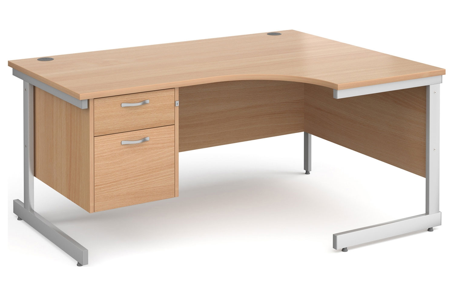 Next-Day Tully I Right Hand Ergonomic Desk 2 Drawers