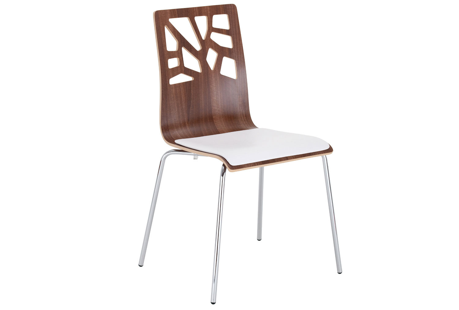 Pack of 4 Boe Bistro Side Chairs With Upholstered Seat