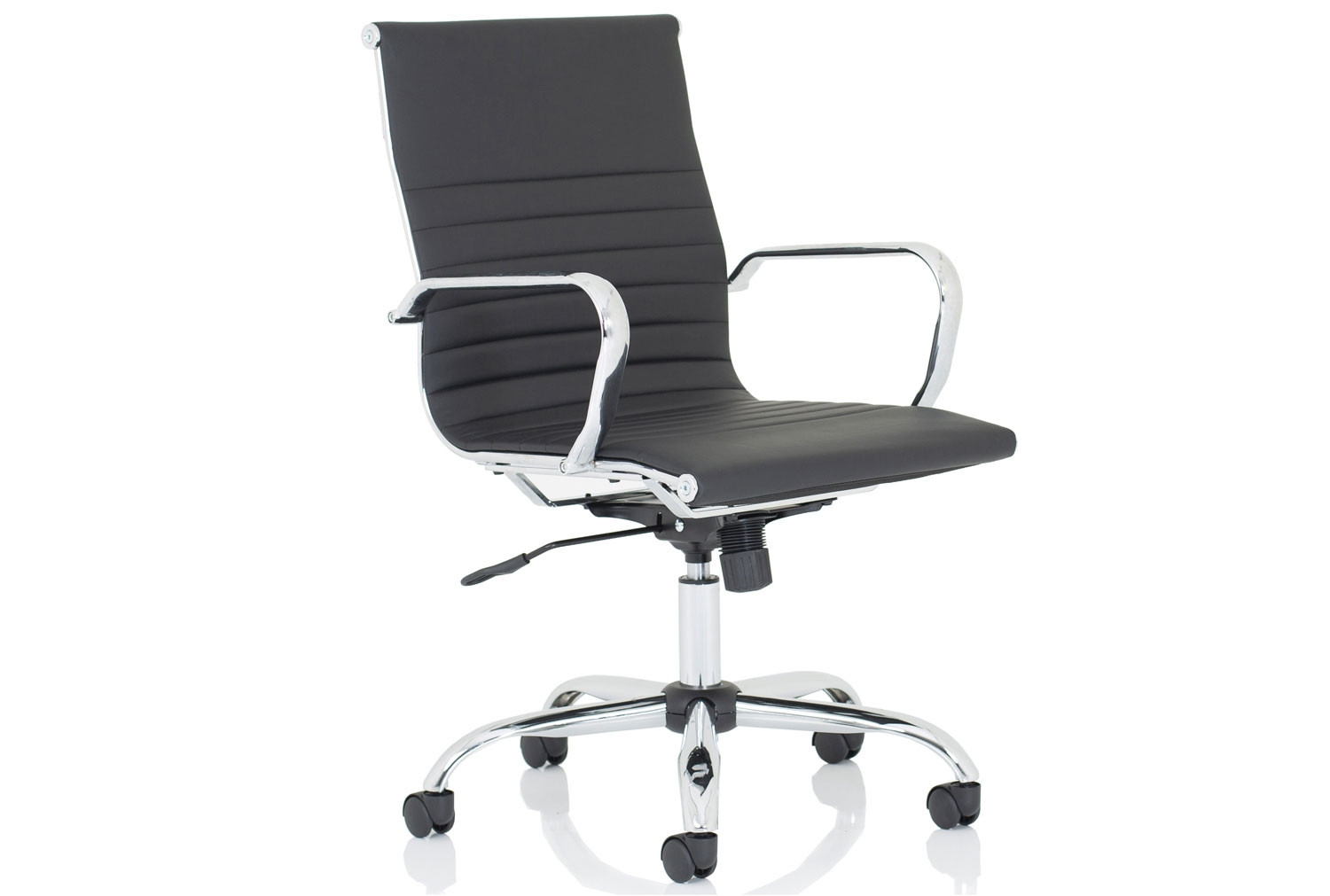 Besos Medium Back Bonded Leather Executive Chair (Black)