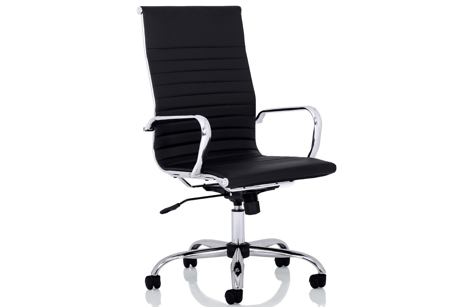 Besos High Back Bonded Leather Executive Chair (Black)