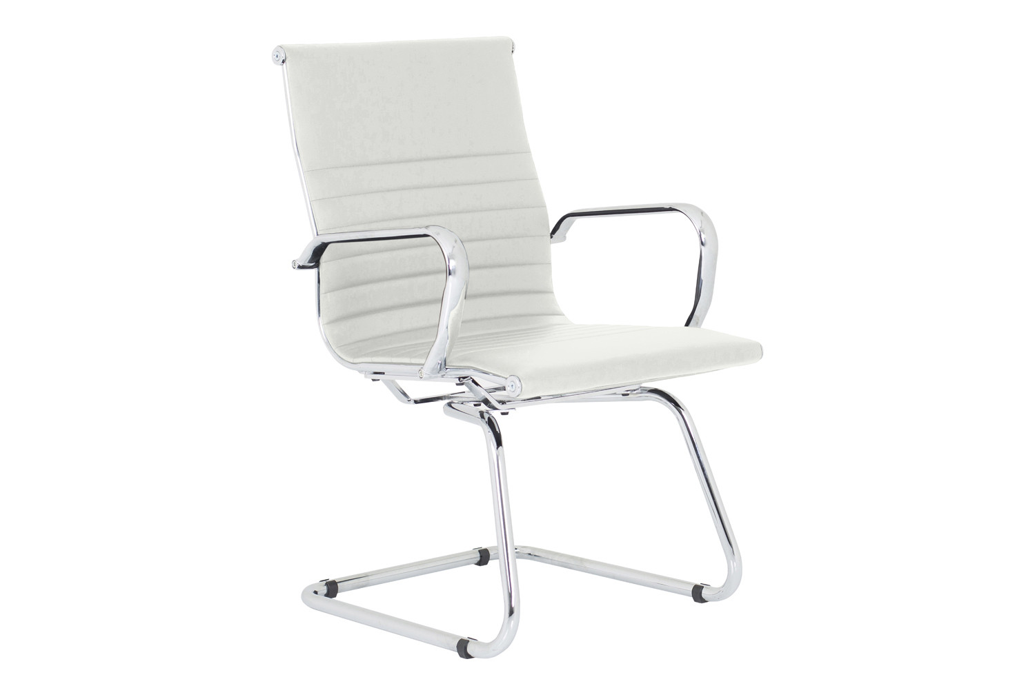 Besos Bonded Leather Visitor Chair (White)