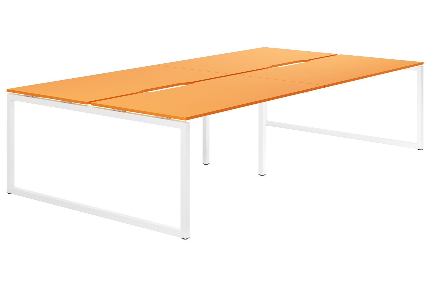 Next-Day Campos Hooped Leg 4 Person Back To Back Bench Desk (Orange)