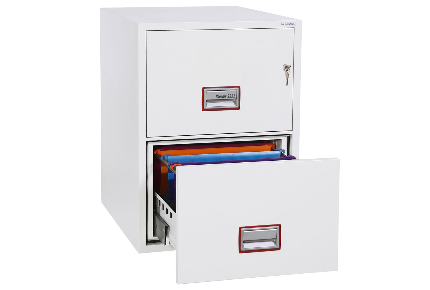Phoenix World Class Vertical FS2252K Fire File 2 Drawers With Key Lock