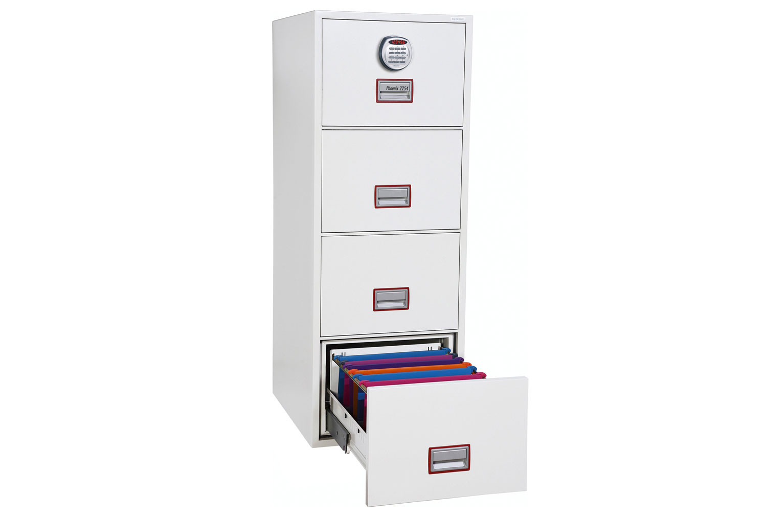 Phoenix World Class Vertical FS2254E Fire File 4 Drawers With Electronic Lock