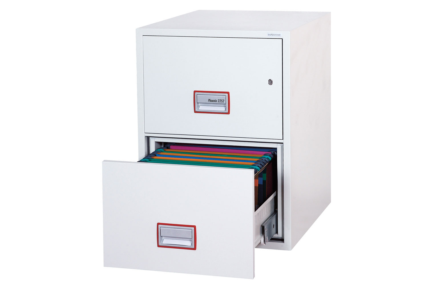 Phoenix World Class Vertical FS2262K Fire File 2 Drawers With Key Lock