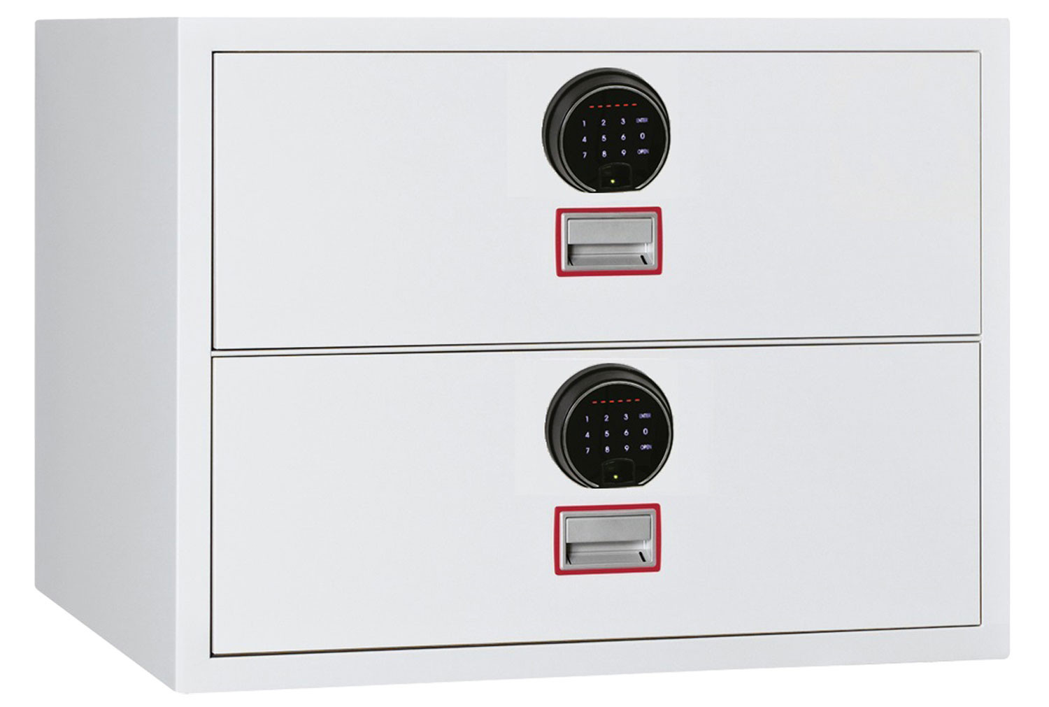 Phoenix World Class Lateral FS2412F Fire File 2 Drawers With Fingerprint Lock