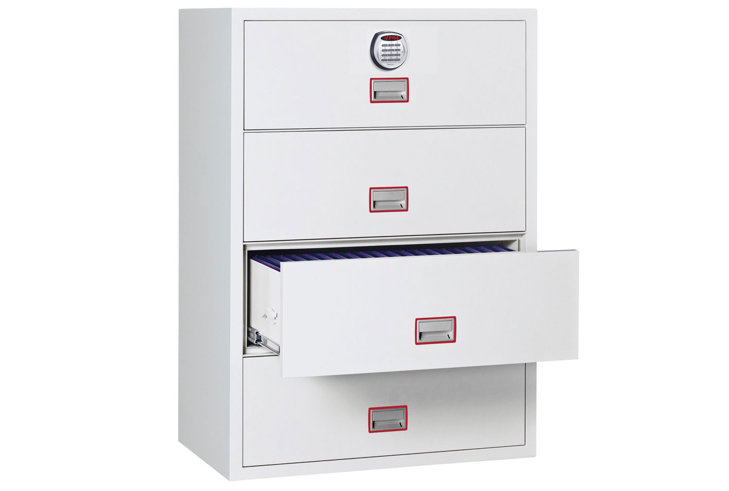 Phoenix World Class Lateral FS2414E Fire File 4 Drawers With Electronic Lock