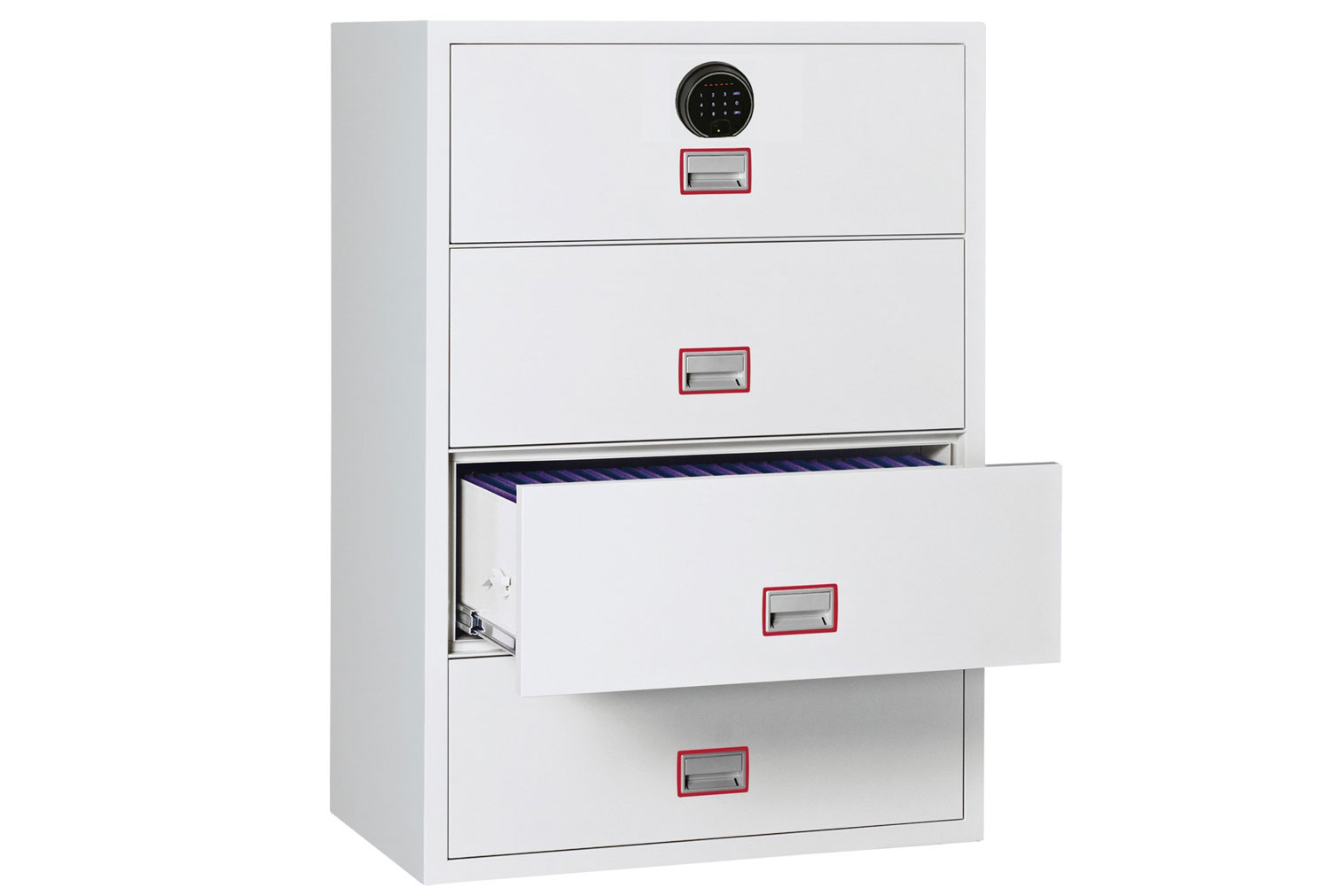 Phoenix World Class Lateral FS2414F Fire File 4 Drawers With Fingerprint Lock