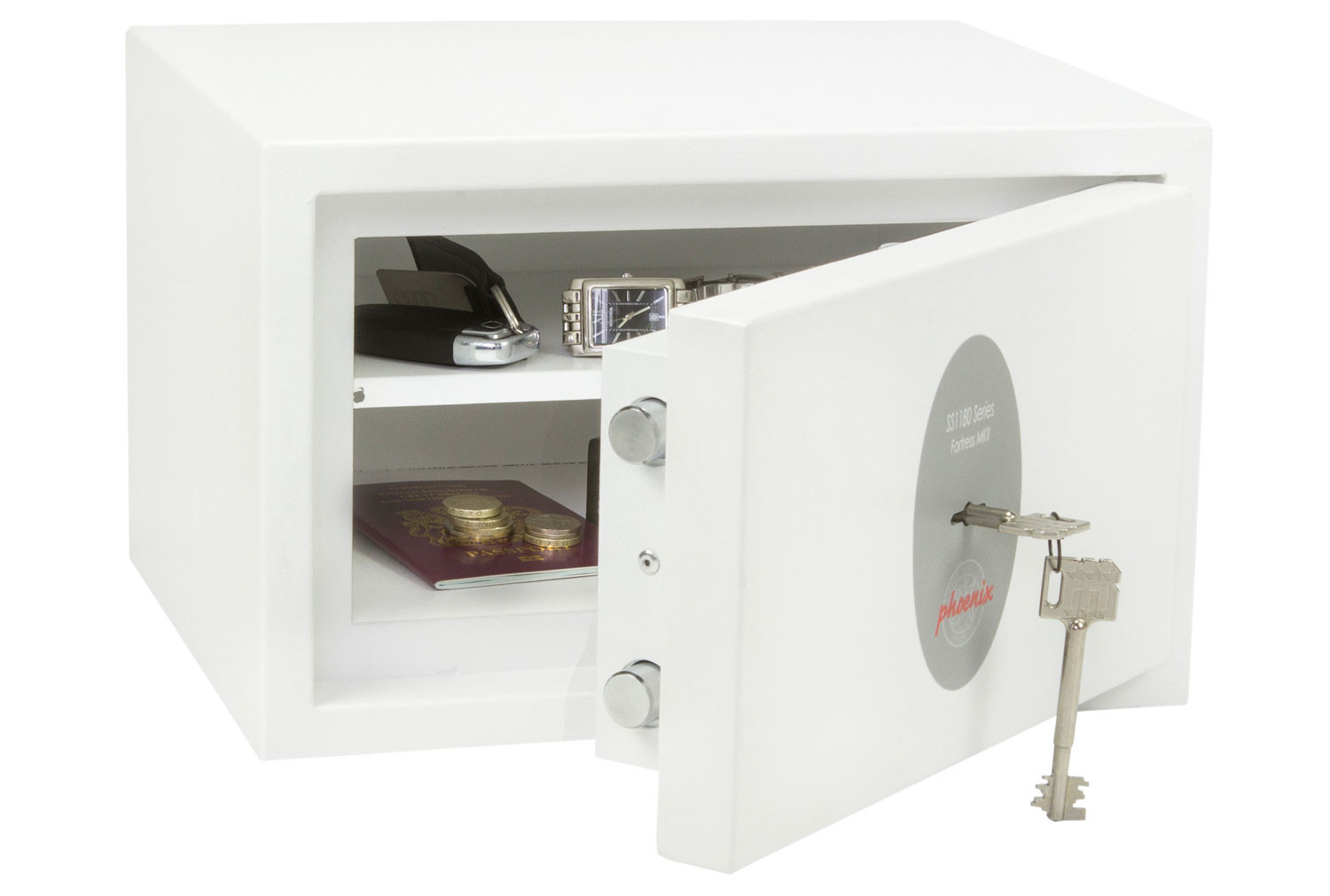 Phoenix Fortress SS1181K Security Safe With Key Lock (7ltrs)