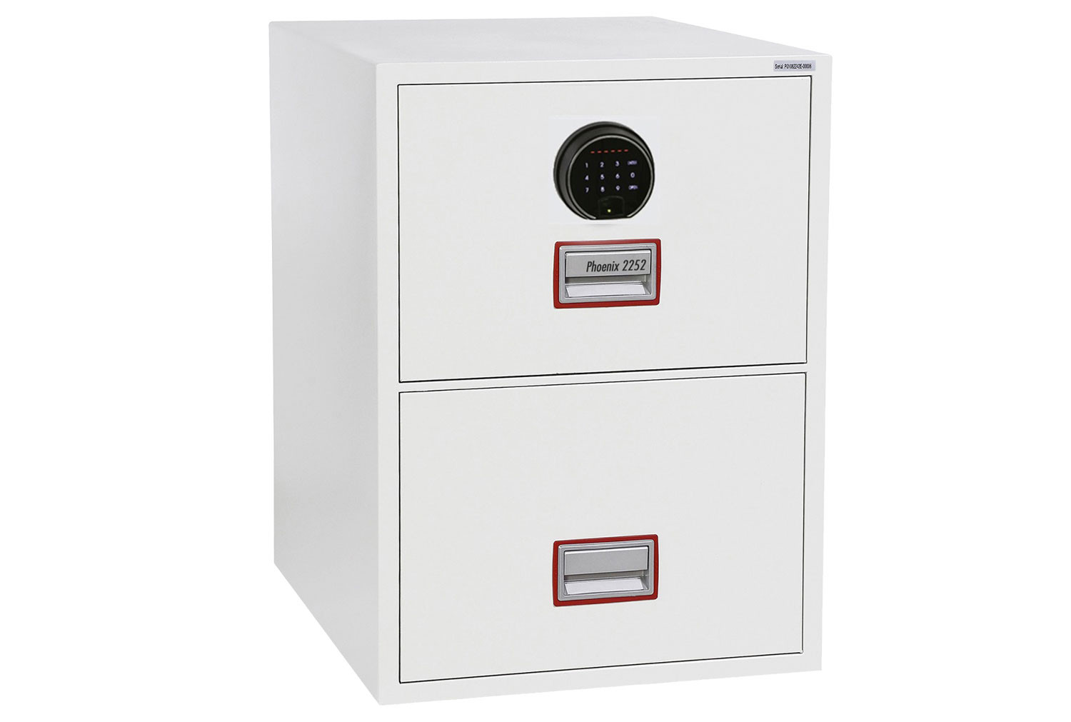 Phoenix World Class Vertical FS2252F Fire File 2 Drawers With Fingerprint Lock