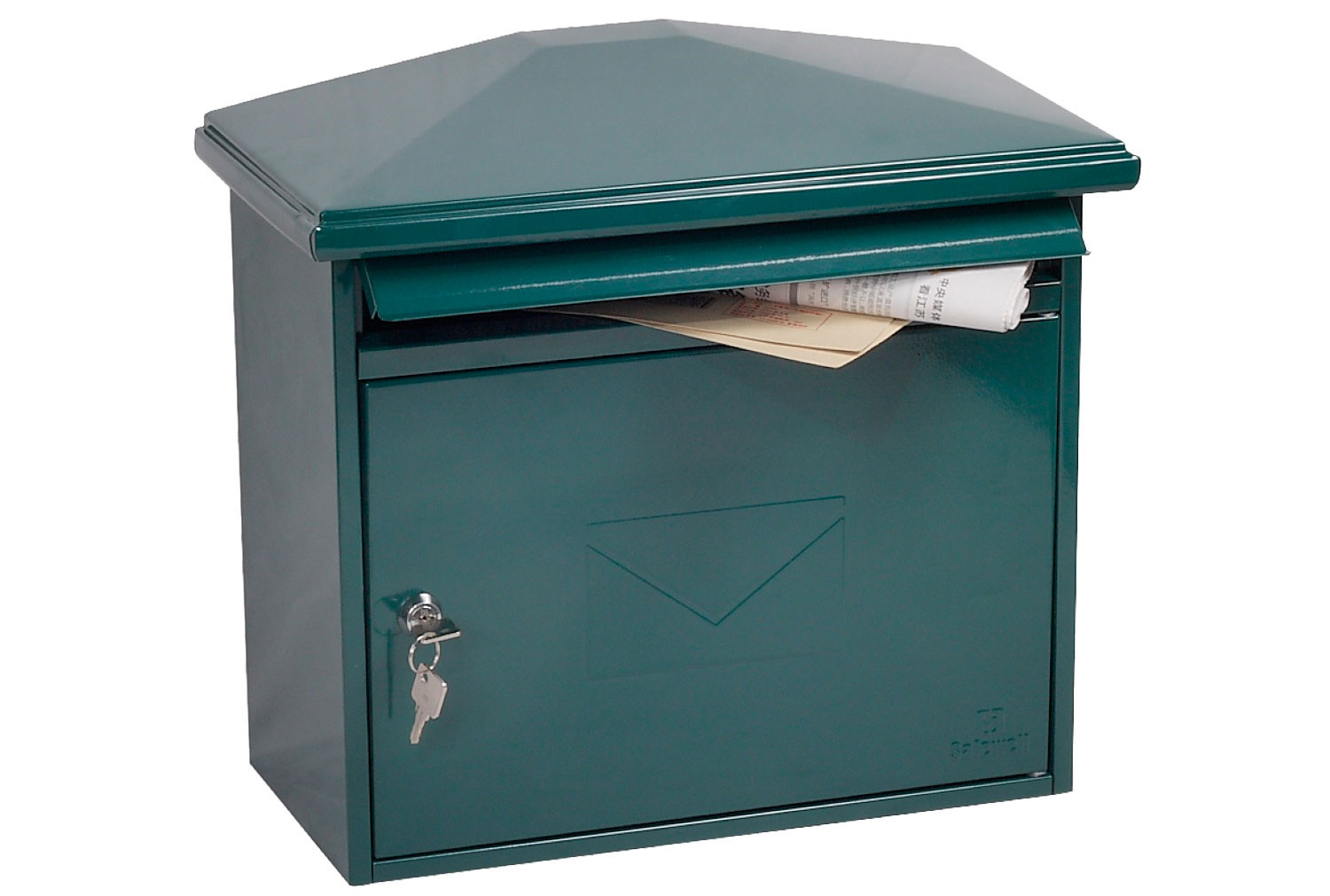 Phoenix Libro MB0115KG Front Loading Mail Box Green