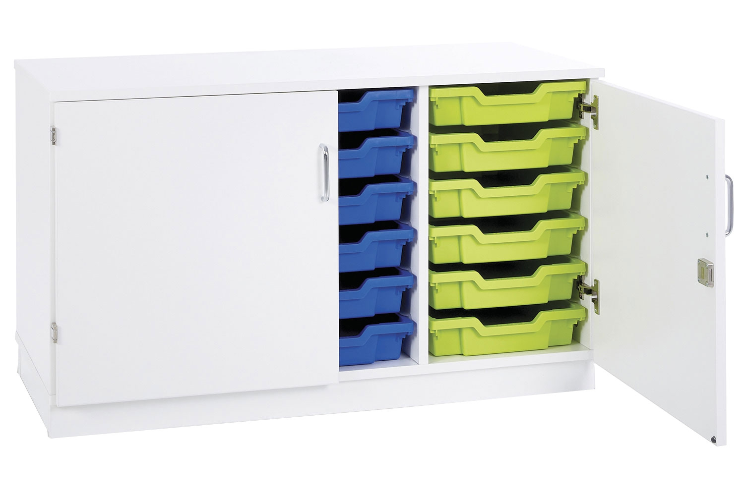 Pearl 18 Shallow Tray Static Storage Unit With Doors
