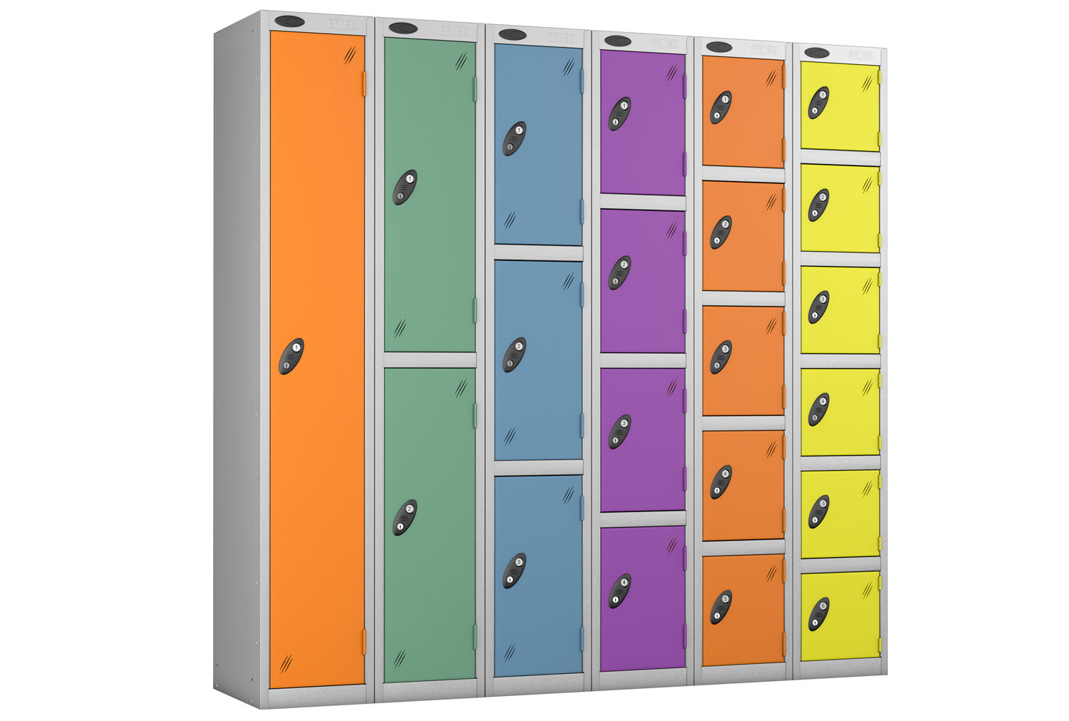 Probe Autumn Colour Lockers With Silver Body