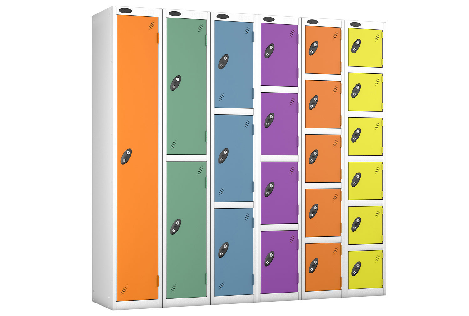 Probe Autumn Colour Lockers With White Body