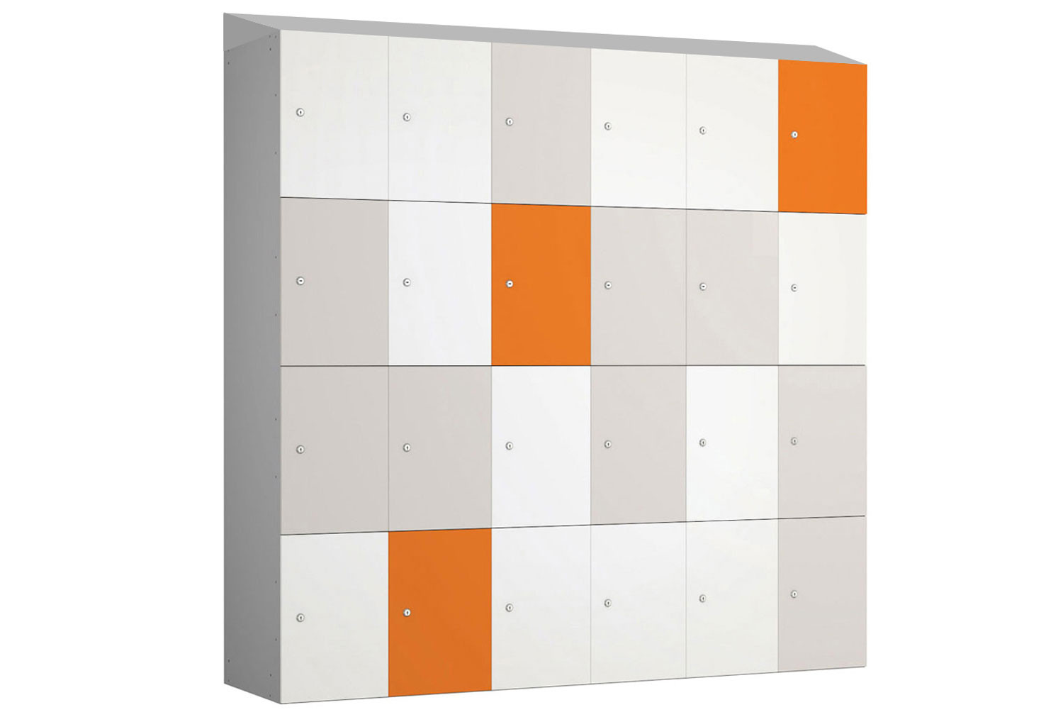 Probe BuzzBox MFC Satin Laminate Sloping Top Locker With Silver Body