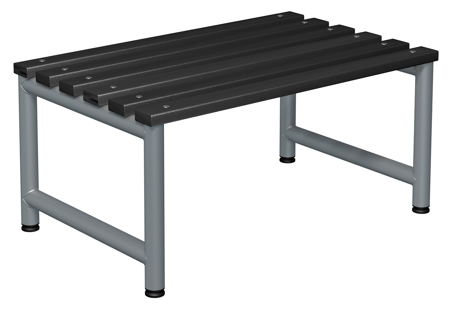 Probe Double Sided Cloakroom Bench (Black Polymer)