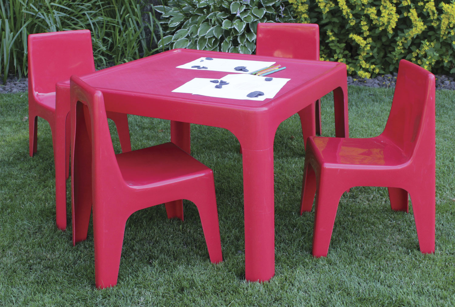 Early Years Resin Table And Chair Set - Furniture At Work®