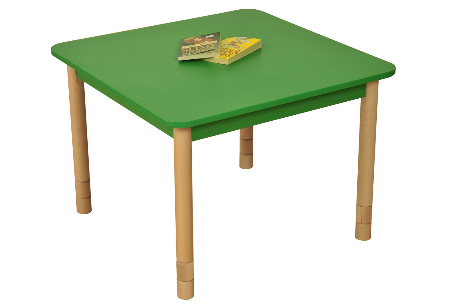 Beechwood Height Adjustable Square Table