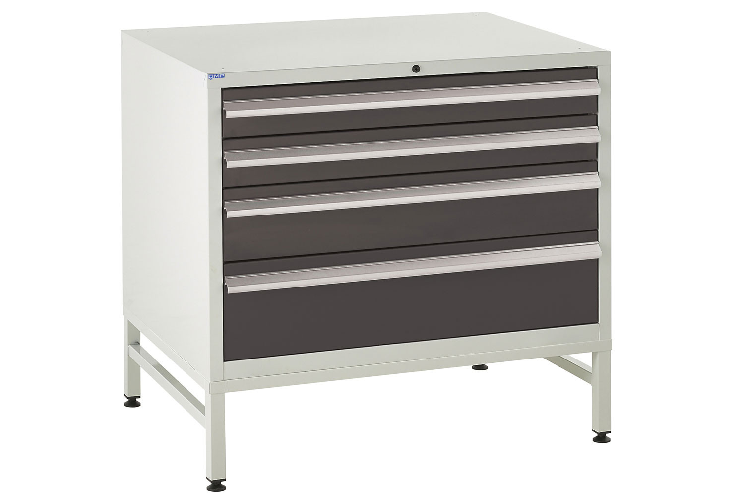 Euroslide 900 Under Bench 4 Drawer Cabinet With Stand 825h