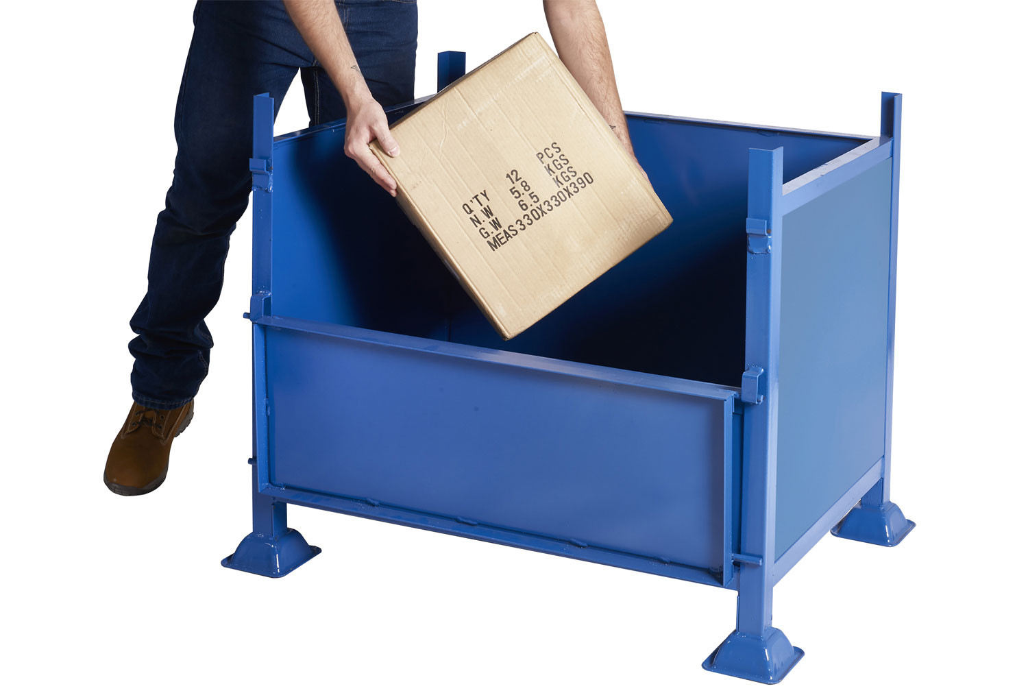 Half-Drop Side Pallet With Steel Sides