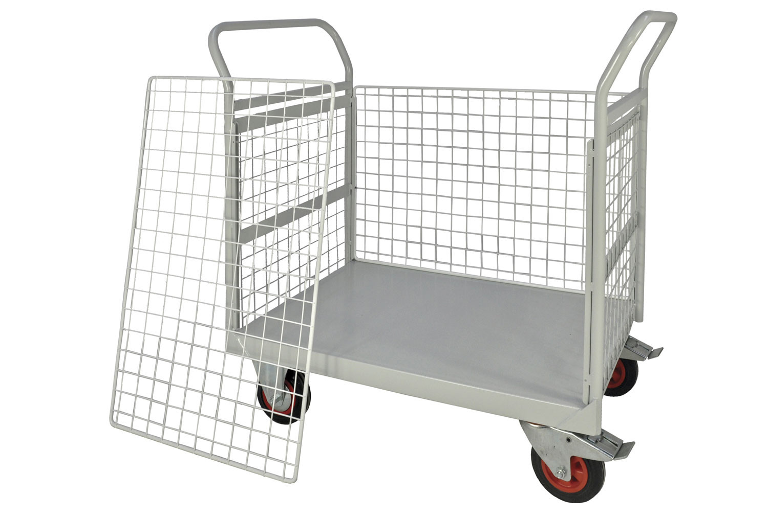 Mailroom Trolley With Half Side