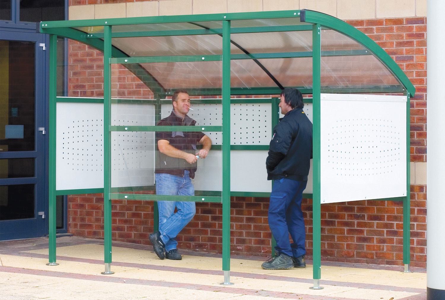 Premier Smoking Shelter With Perforated Steel Sides