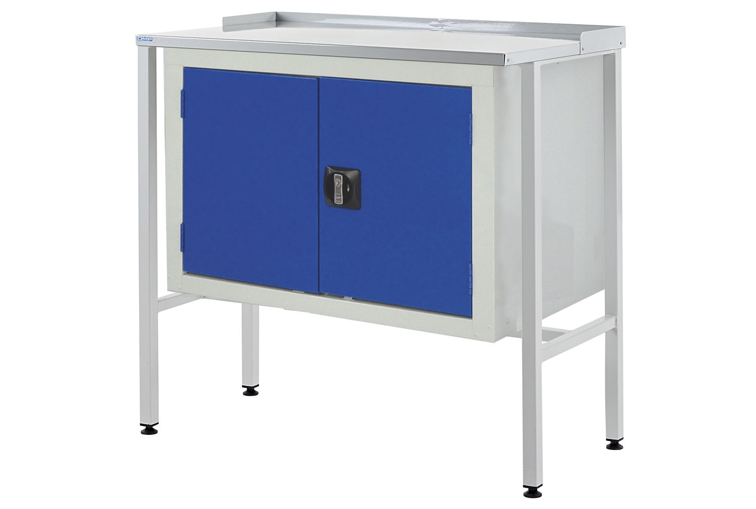 Team Leader Flat Top Workstation With Double Cupboard