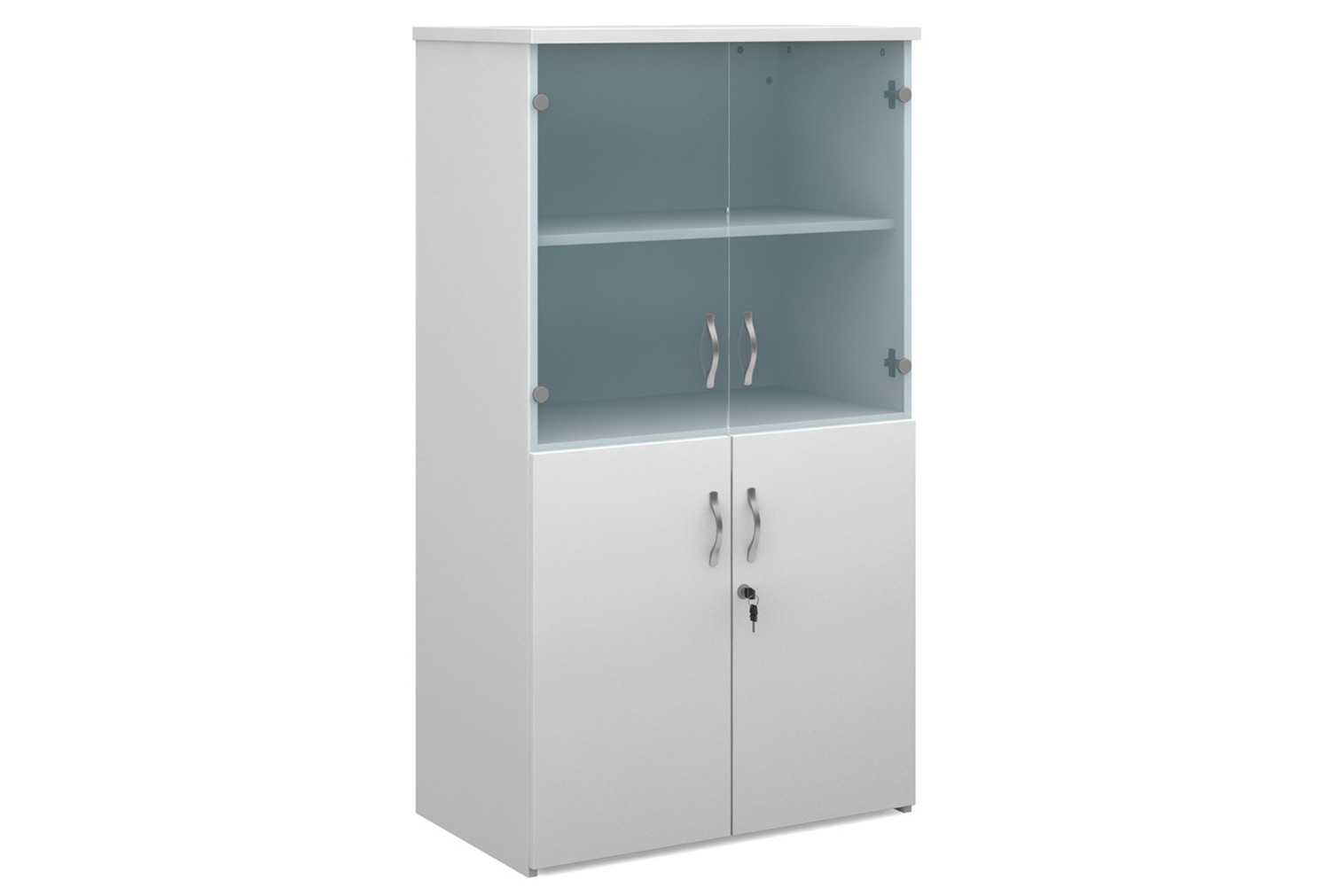 All White Glazed Top Cupboards