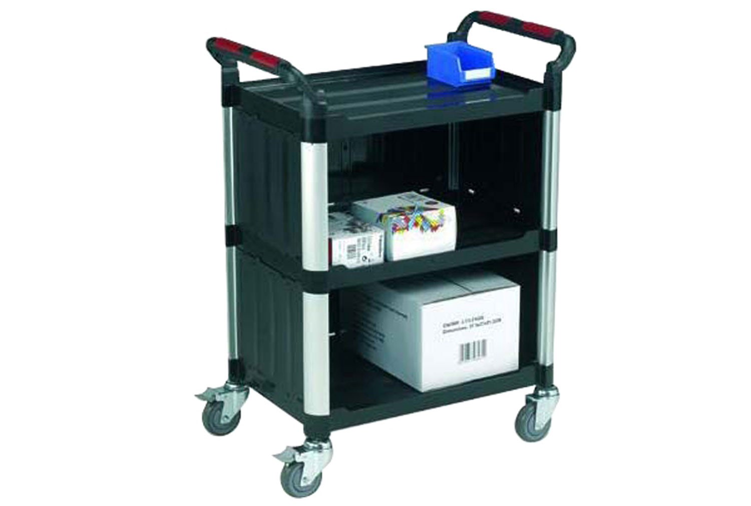 Plastic Utility Trolley With Sides (150kg Capacity)