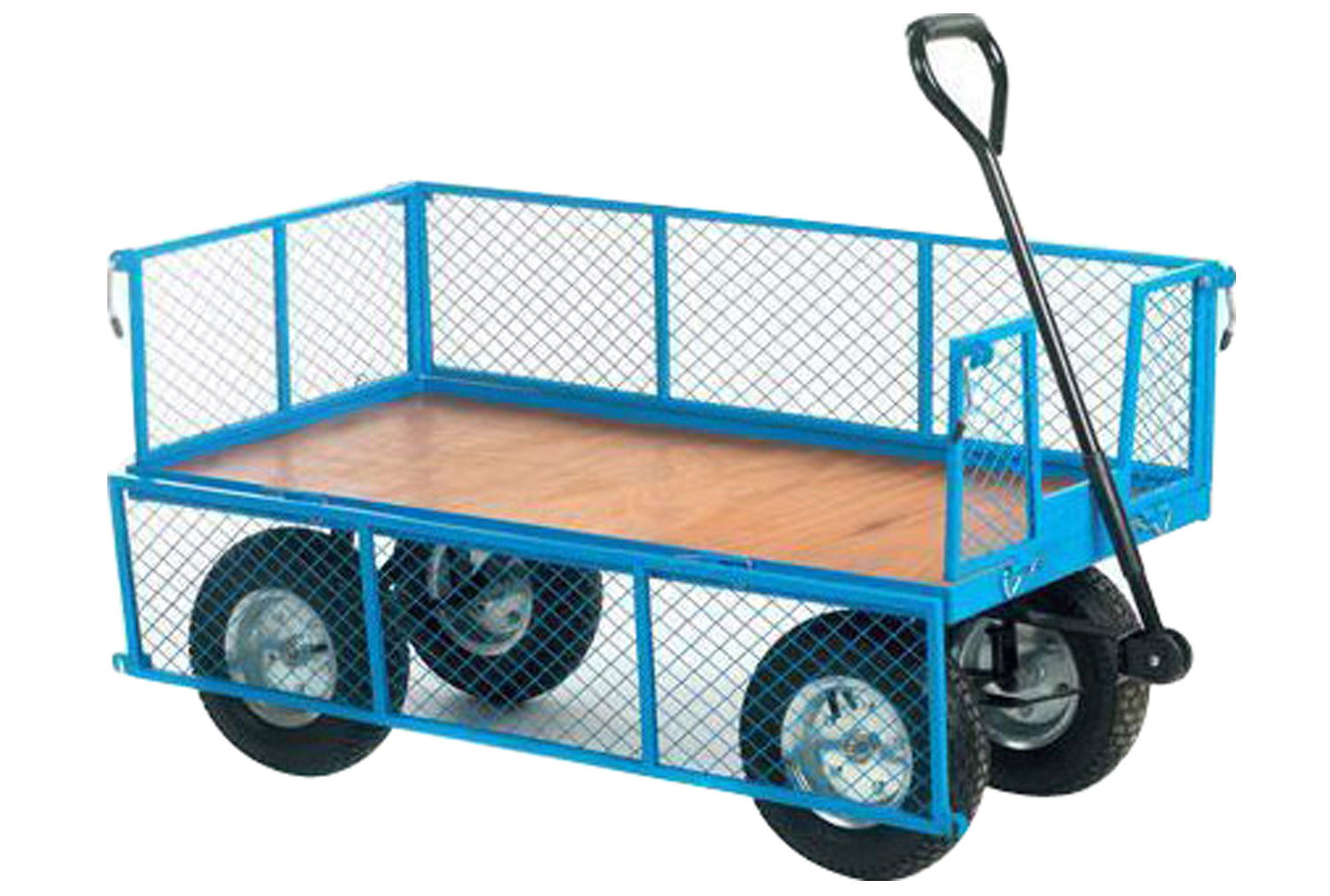 Timber Platform Truck With Mesh Sides