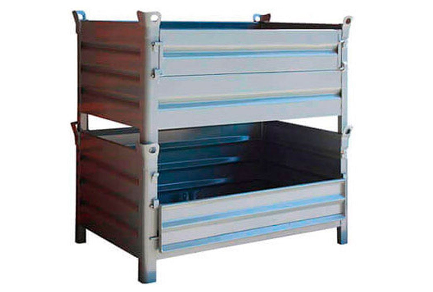 Steel Pallets With Half Drop Front