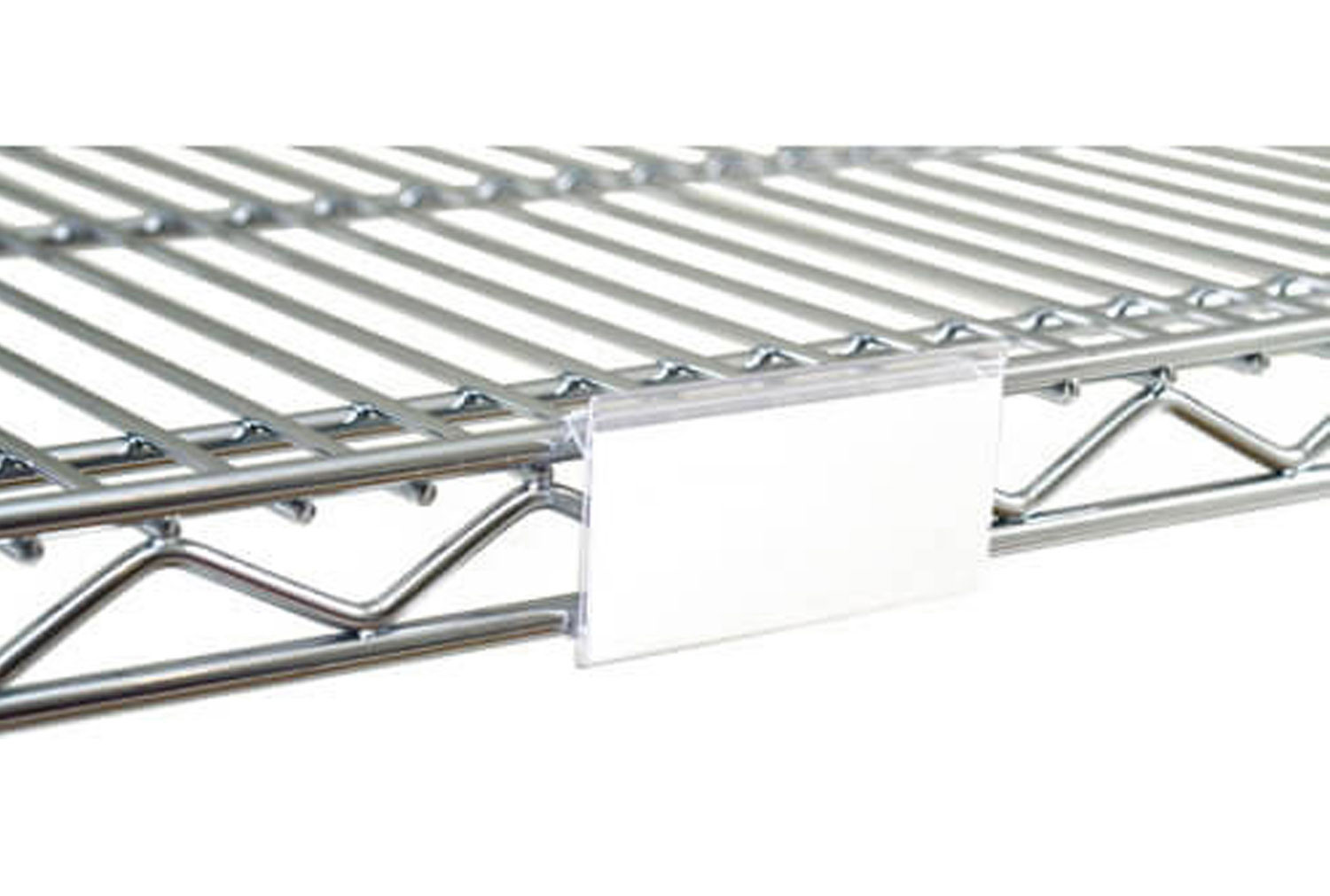 Clip On Label Display For Chrome Wire Basket Shelving