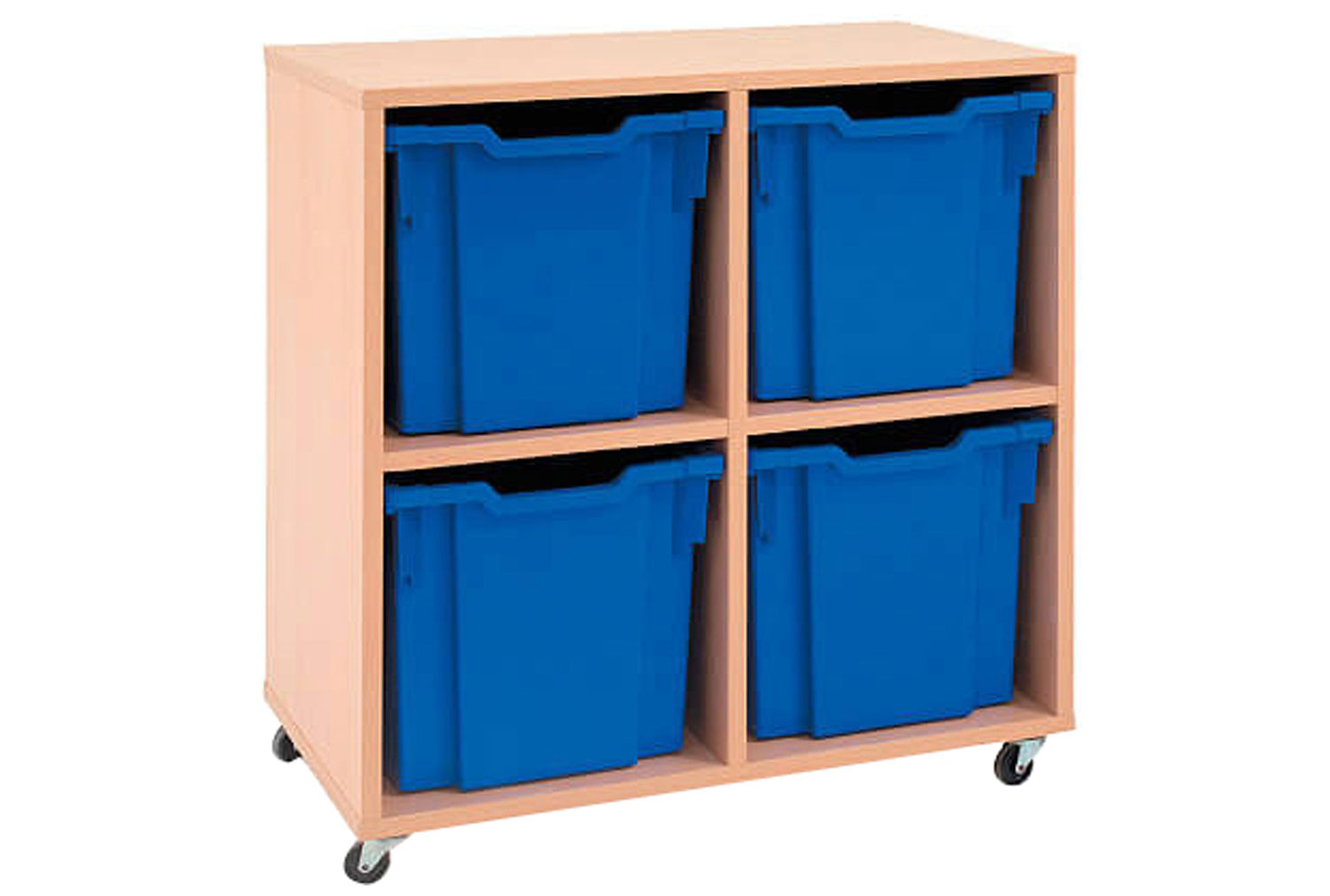 Mobile Tray Storage Unit With 4 Free Clear Jumbo Gratnells Trays